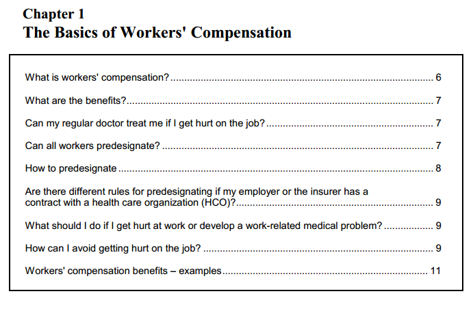 the basics of workers compensation
