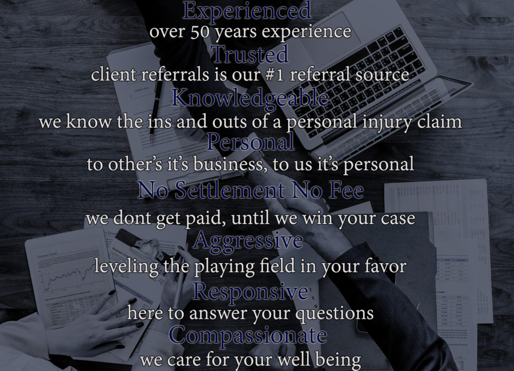 experienced, trusted, knowledgeable, personal