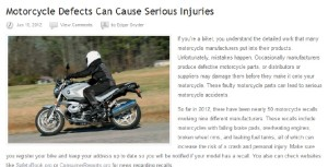 Motocycle Defects
