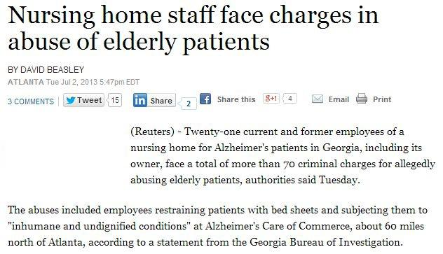 nursing home staff face charges in abuse of elderly patients