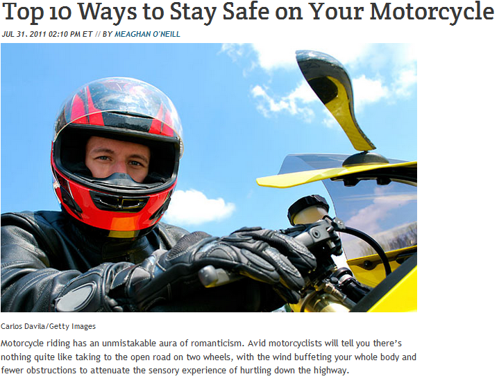 top 10 ways to stay safe on your motorcycles