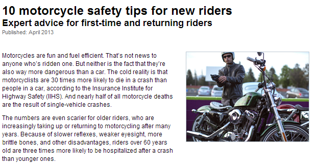 10 motorcycle safety tips for new riders